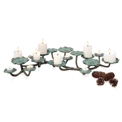 Blossom Pillar Candelabra-Iron Home Concepts