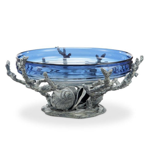 Coral & Conch Shell Bowl Holder-Iron Home Concepts