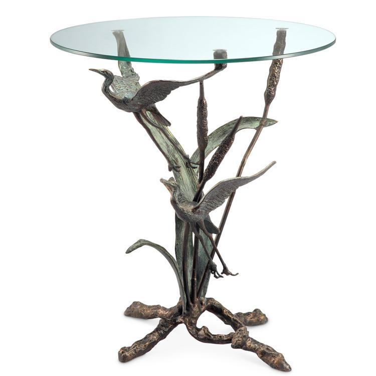 Crane Pair in Flight End Table-Iron Home Concepts