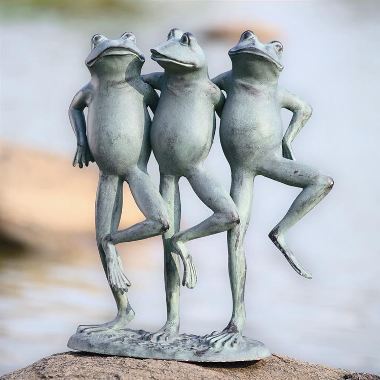 Dancing Frog Trio-Iron Home Concepts