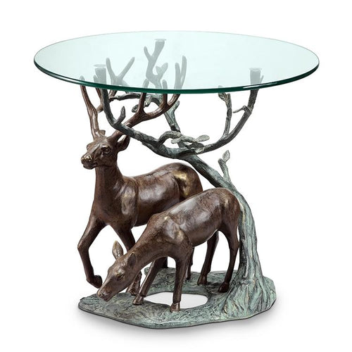 Deer Pair End Table-Iron Home Concepts