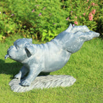 Fetch! Garden Bulldog Sculpture-Iron Home Concepts