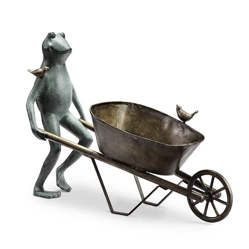 Frog and Bird Planter Holder-Iron Home Concepts
