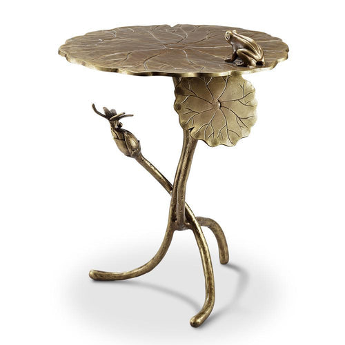 Frog and Dragonfly End Table-Iron Home Concepts
