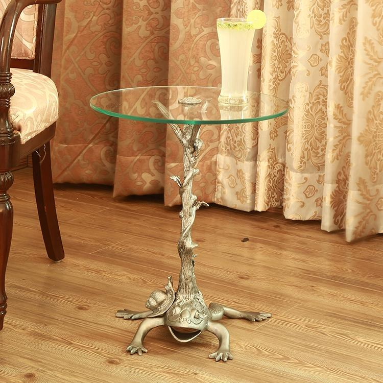 Frog Branch and Vine End Table-Iron Home Concepts