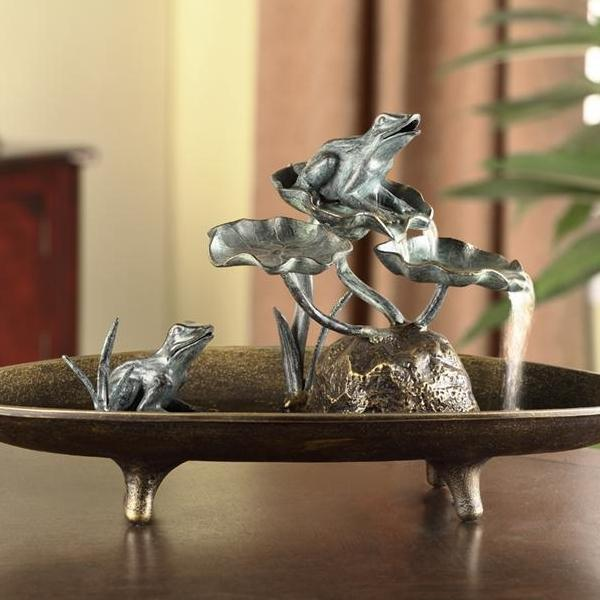Frog Couple Table Fountain-Iron Home Concepts