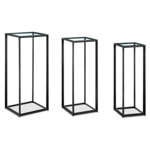 Gallery Iron & Glass Display Stands Set of 3-Iron Home Concepts