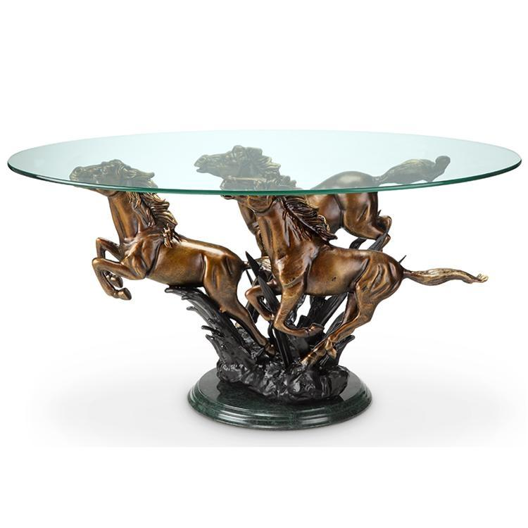 Galloping Horse Trio Coffee Table-Iron Home Concepts