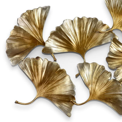 Gingko Leaf Wall Hanging-Iron Home Concepts