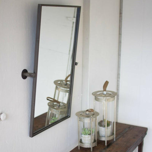 Kalalou Adjustable Metal Wall Mirror-Iron Home Concepts