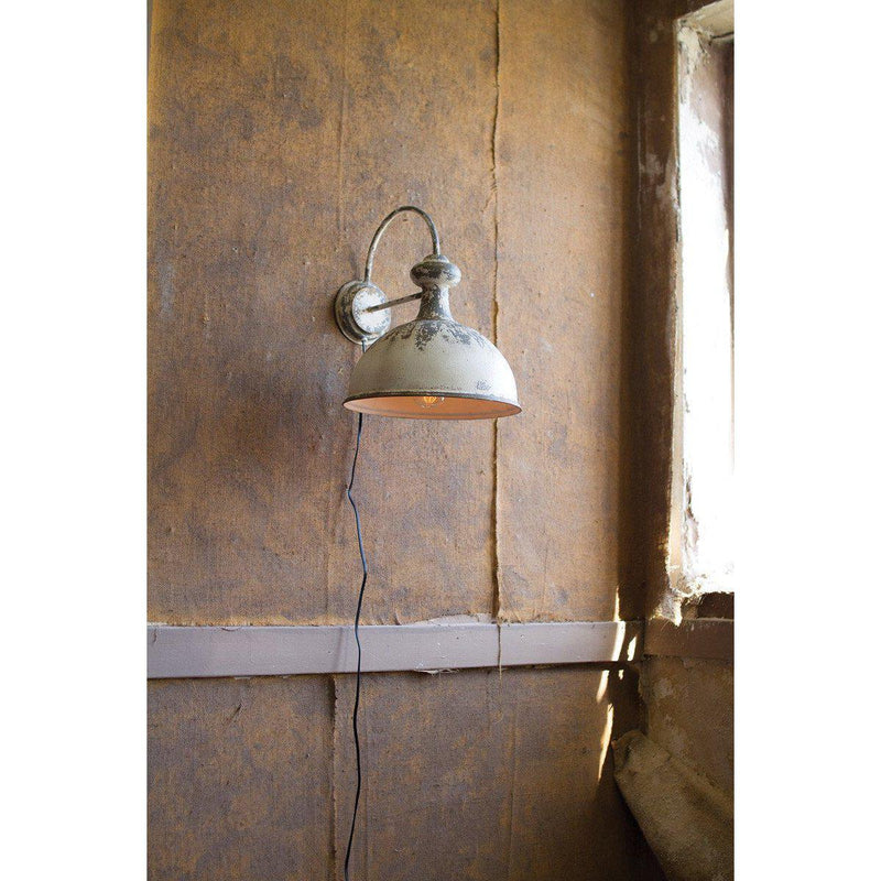 Kalalou Aged Finished Wall Sconce Lamp-Iron Home Concepts