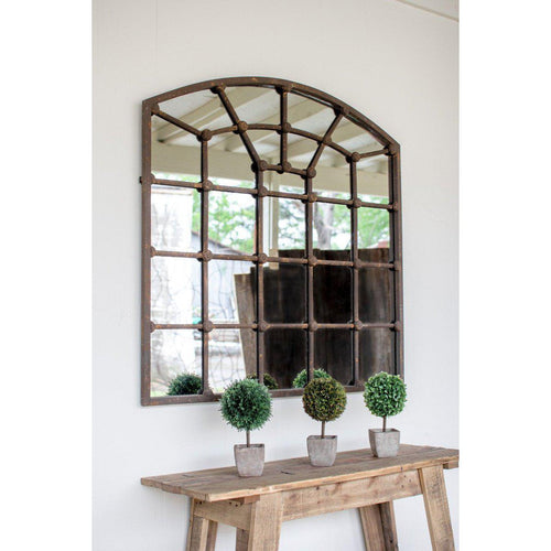 Kalalou Arched Iron Mirror-Iron Home Concepts