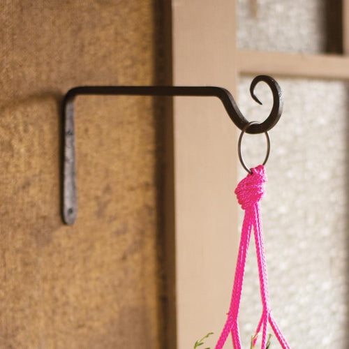 Kalalou Hand Forged Iron Plant Hook Hanger-Iron Home Concepts