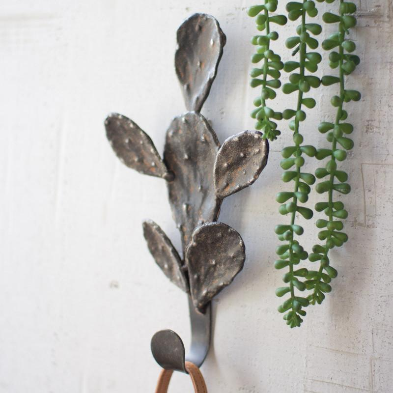 Kalalou Iron Cactus Wall Hook-Iron Home Concepts