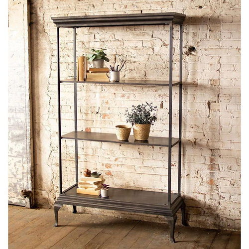 Kalalou Tall Solid Metal Shelving Unit-Iron Home Concepts