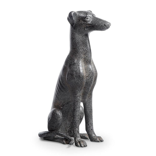 Loyal Greyhound Dog Sculpture-Iron Home Concepts