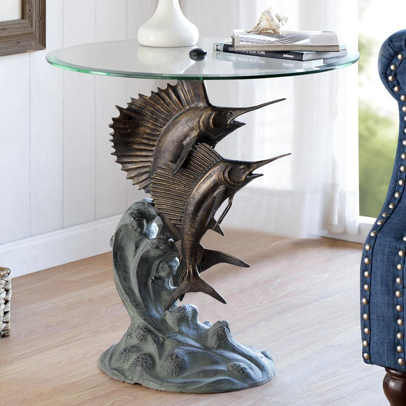 Marlin and Salifish End Table-Iron Home Concepts