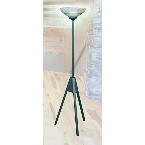 Mathews & Company Atomic Iron Torchiere Floor Lamp-Iron Home Concepts