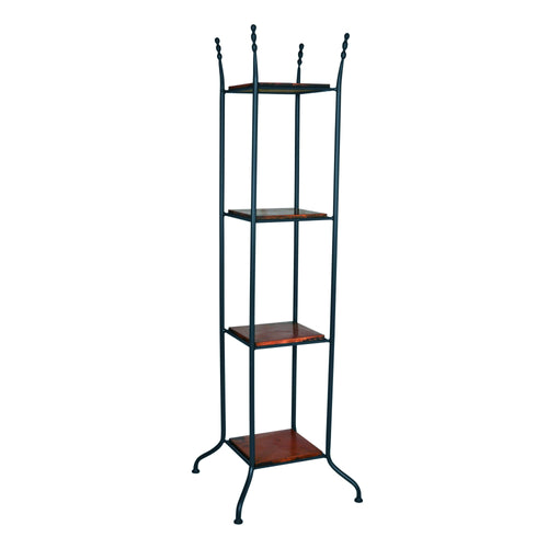 Mathews & Company Cottonwood Etagere Iron Standing Shelf-Iron Home Concepts