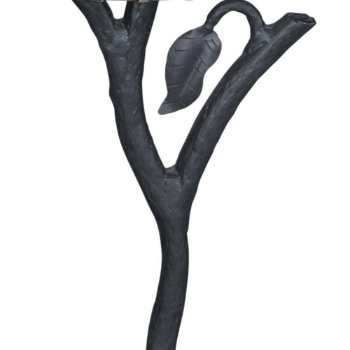 Mathews & Company Iron Leaf Torchiere Floor Lamp-Iron Home Concepts