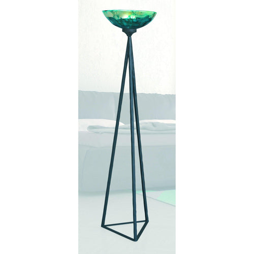 Mathews & Company Tripod Torchiere Iron & Glass Floor Lamp-Iron Home Concepts