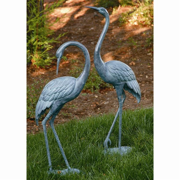 Medium Garden Crane Pair-Iron Home Concepts