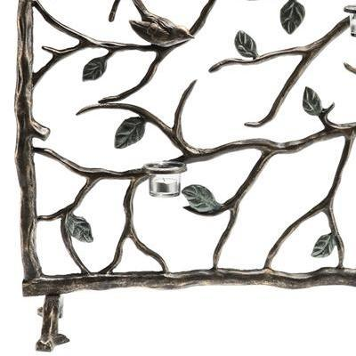 Metal Birds and Branches Candle Firescreen-Iron Home Concepts