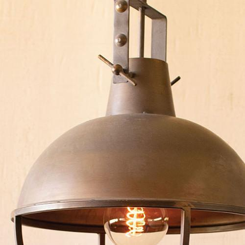 Metal Pendant Cage Light-Iron Home Concepts