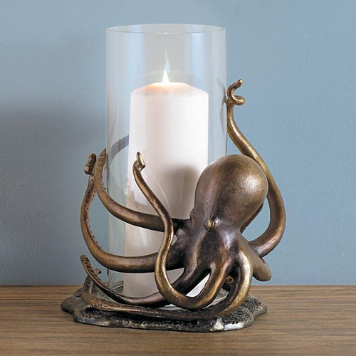 Octopus Hurricane Candleholder-Iron Home Concepts