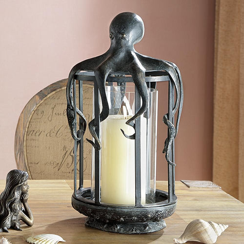Octopus Lantern Candle Holder-Iron Home Concepts