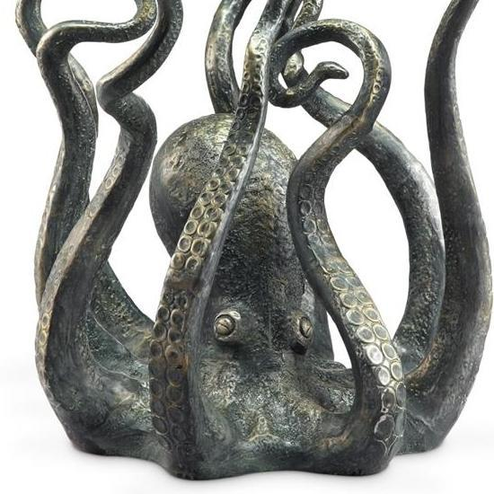 Octopus Metal & Glass End Table-Iron Home Concepts