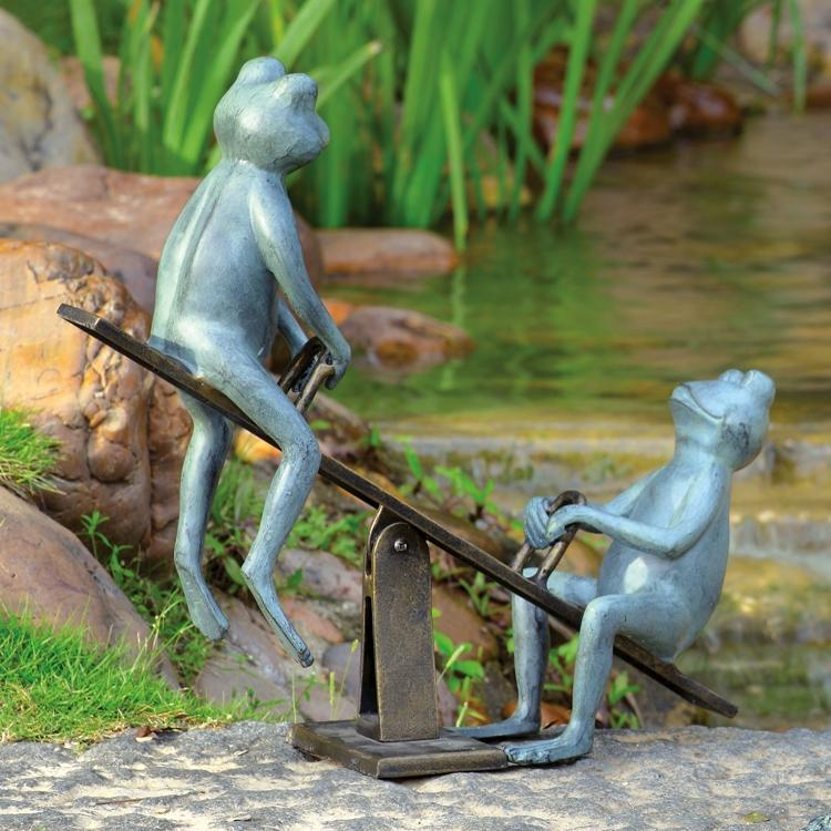 Playground Days Frogs Garden Statue-Iron Home Concepts