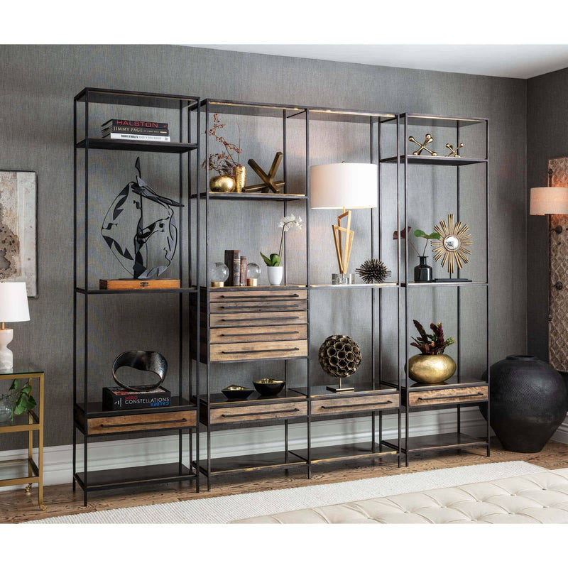 Regina Andrew Baxter Etagere (Blackened Iron)-Shelving & Cabinets-Iron Home Concepts