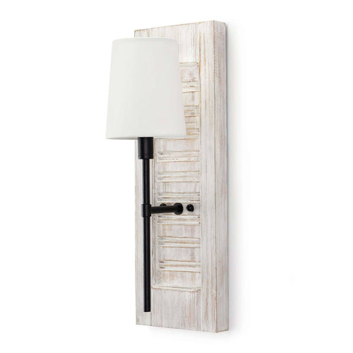 Regina Andrew Beal Sconce (Blackened Iron)-Wall Sconces-Iron Home Concepts