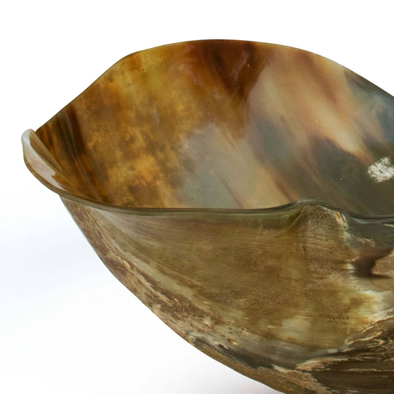Regina Andrew Black Horn Bowl-Functional Display-Iron Home Concepts