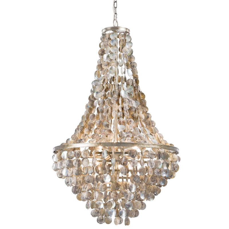 Regina Andrew Capri Abalone Shell Chandelier-Ceiling Fixtures-Iron Home Concepts