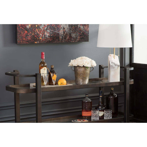 Regina Andrew Carter Bar Cart (Oil Rubbed Bronze)-Tables-Iron Home Concepts
