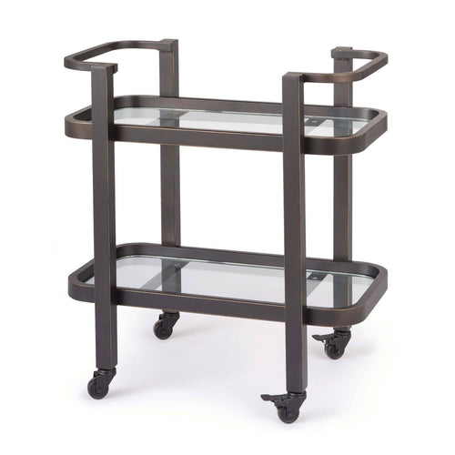 Regina Andrew Carter Bar Cart Small (Oil Rubbed Bronze)-Tables-Iron Home Concepts