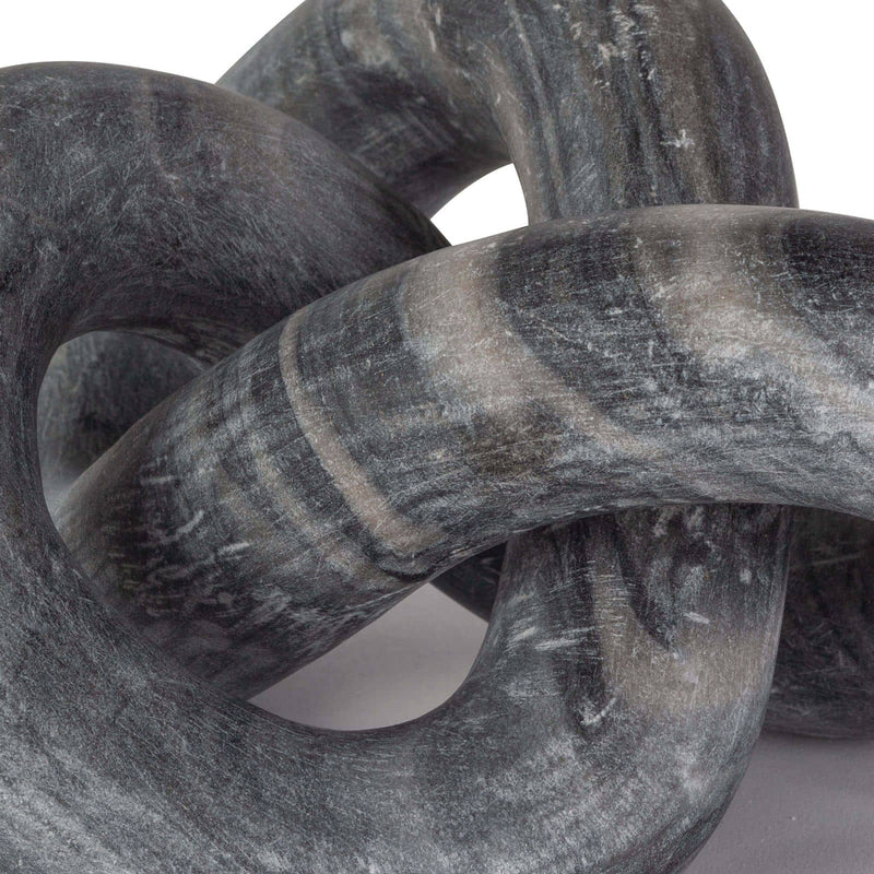 Regina Andrew Cassius Marble Sculpture (Black)-Sculptural Objets-Iron Home Concepts
