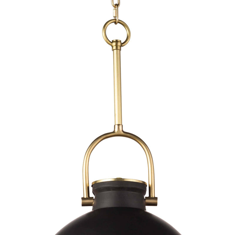 Regina Andrew Eloise Ceramic Pendant (Black)-Ceiling Fixtures-Iron Home Concepts