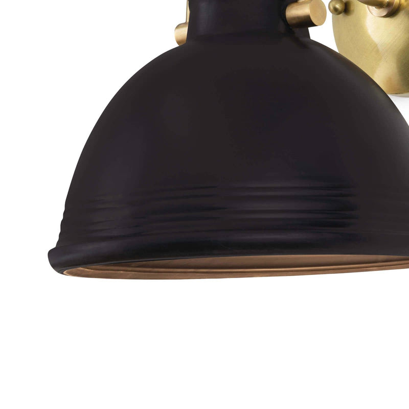 Regina Andrew Eloise Ceramic Sconce (Black)-Wall Sconces-Iron Home Concepts