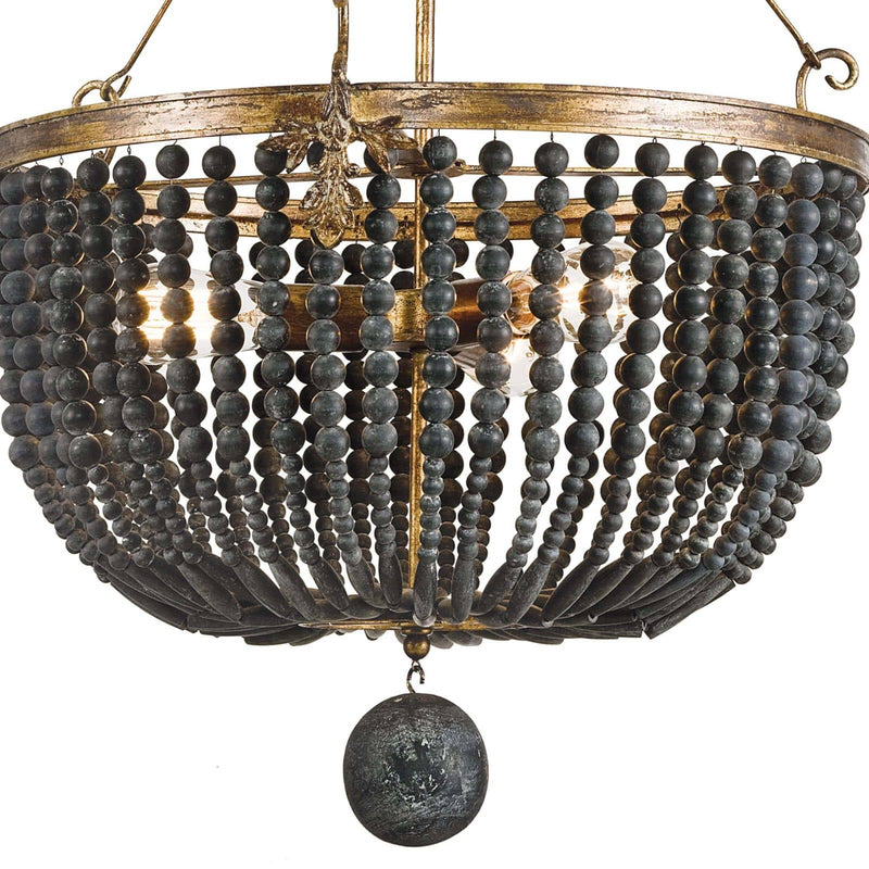 Regina Andrew Fabian Wood Bead Chandelier-Ceiling Fixtures-Iron Home Concepts