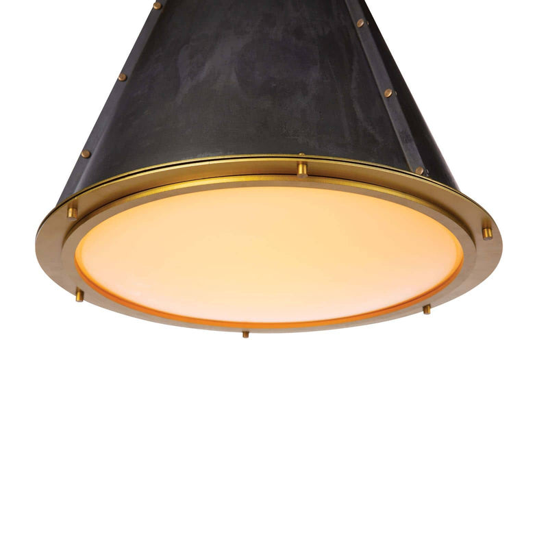 Regina Andrew French Maid Chandelier SM (Blackened Brass Natural Brass)-Ceiling Fixtures-Iron Home Concepts