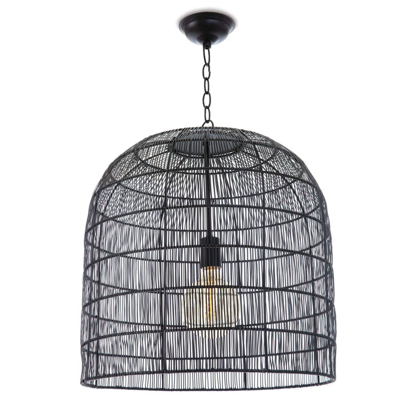 Regina Andrew Fresco Metal Pendant (Black)-Ceiling Fixtures-Iron Home Concepts