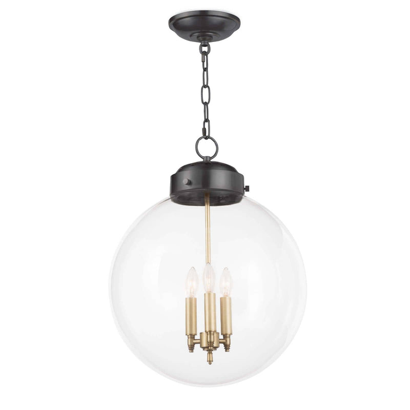 Regina Andrew Globe Pendant (Oil Rubbed Bronze and Natural Brass)-Ceiling Fixtures-Iron Home Concepts
