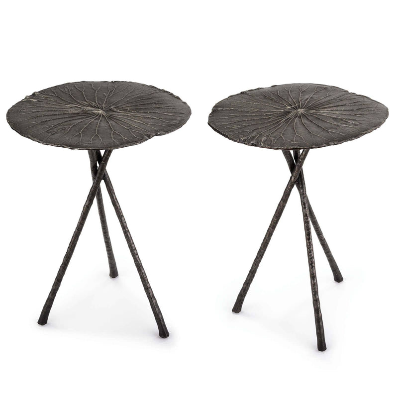 Regina Andrew Lotus Table Large (Set of 2) Dark Nickel-Tables-Iron Home Concepts