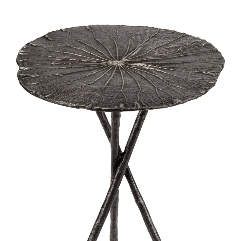 Regina Andrew Lotus Table Small (Set of 2) Dark Nickel-Tables-Iron Home Concepts