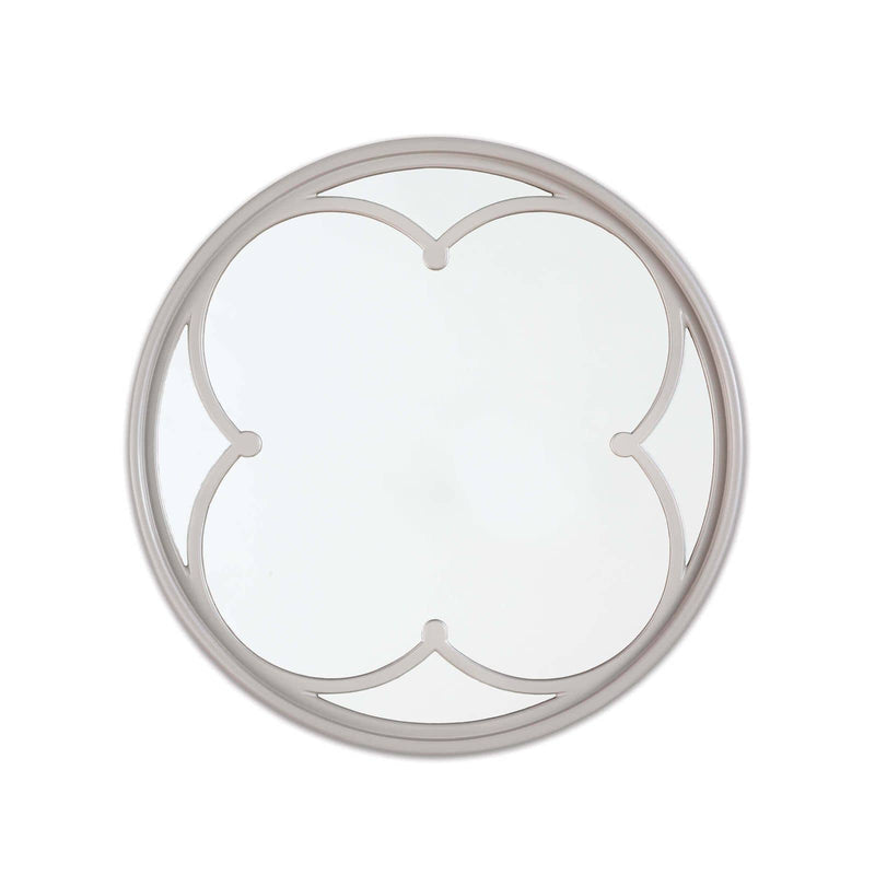 Regina Andrew Lula Quatrefoil Mirror Small (Grey)-Mirrors & Wall Art-Iron Home Concepts