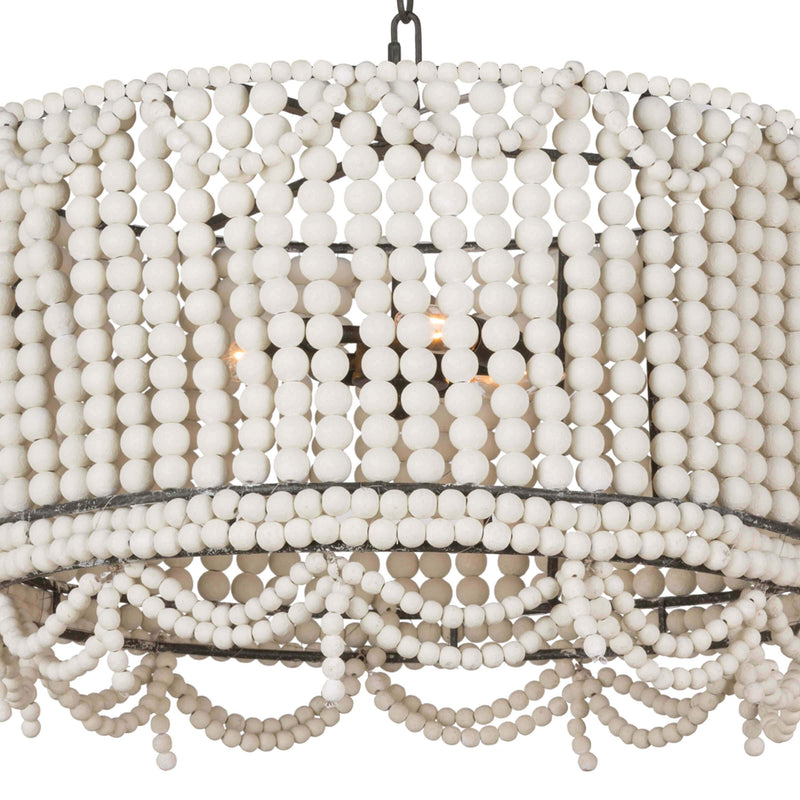 Regina Andrew Malibu Drum Pendant (Weathered White)-Ceiling Fixtures-Iron Home Concepts