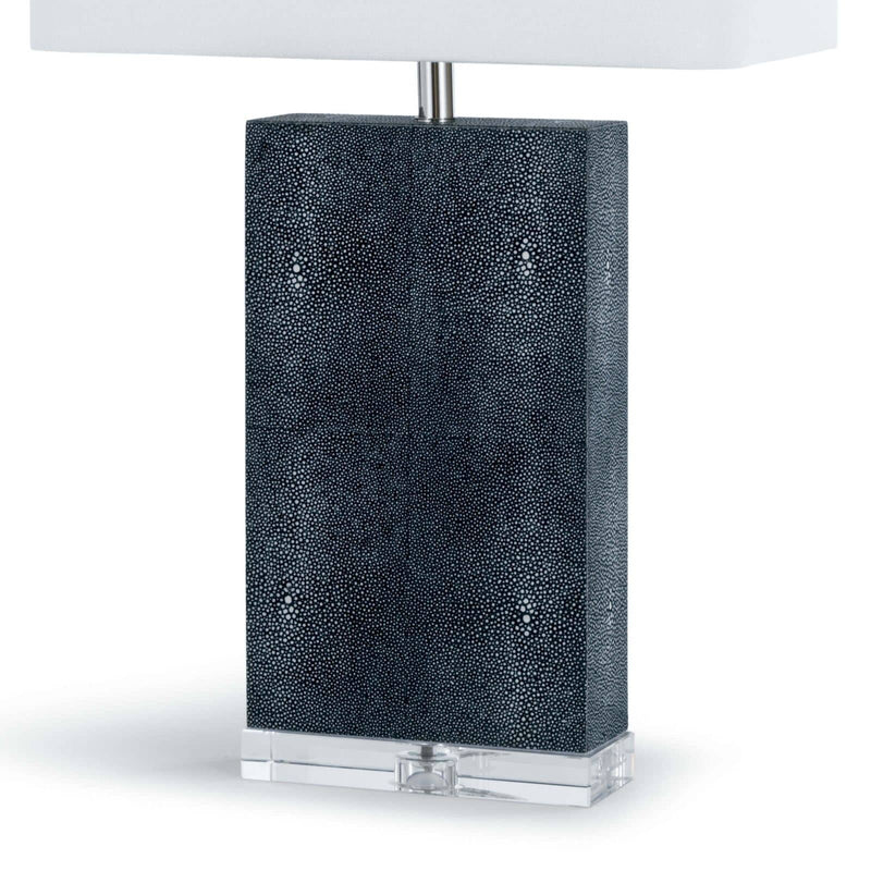 Regina Andrew Marcel Charcoal Shagreen Table Lamp-Table Lamps-Iron Home Concepts